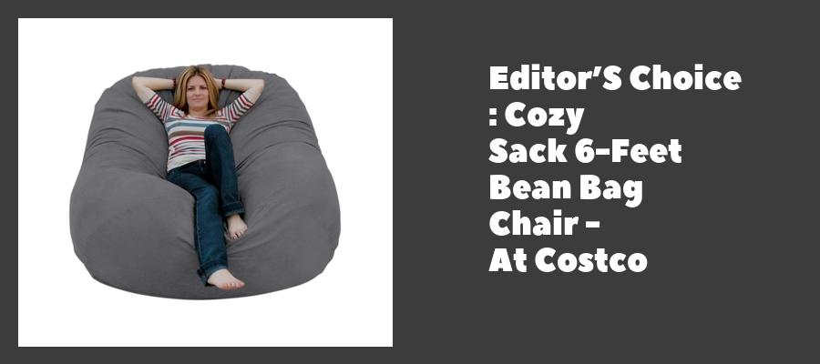 Editor'S Choice : Cozy Sack 6-Feet Bean Bag Chair - At Costco