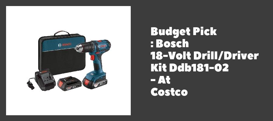 Budget Pick : Bosch 18-Volt Drill/Driver Kit Ddb181-02 - At Costco