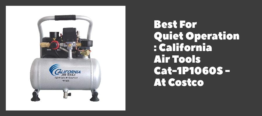 Best For Quiet Operation : California Air Tools Cat-1P1060S - At Costco