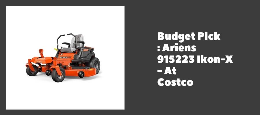 Budget Pick : Ariens 915223 Ikon-X - At Costco