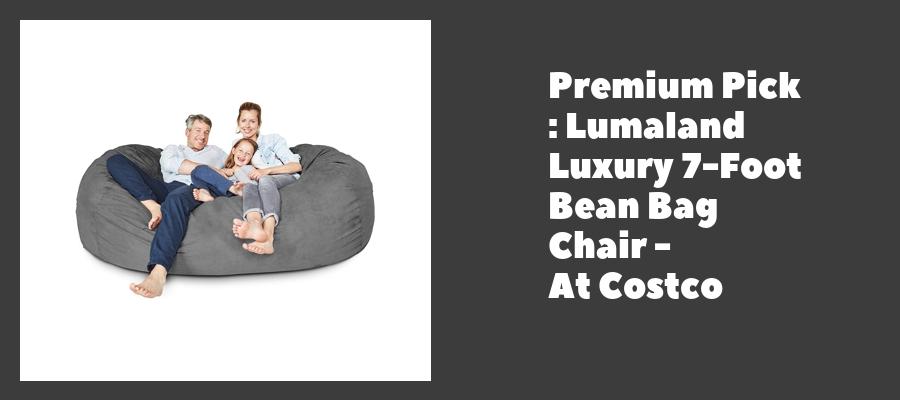 Premium Pick : Lumaland Luxury 7-Foot Bean Bag Chair - At Costco