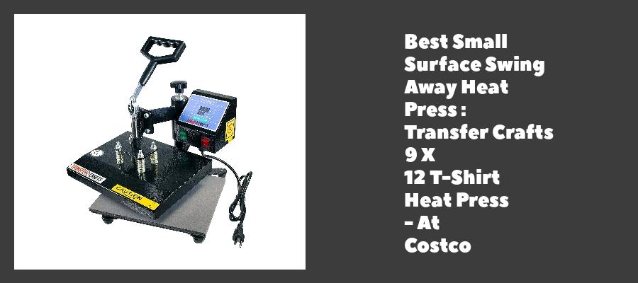 Best Small Surface Swing Away Heat Press : Transfer Crafts 9 X 12 T-Shirt Heat Press - At Costco