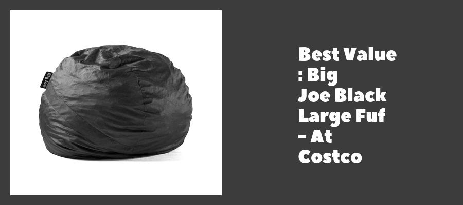 Best Value : Big Joe Black Large Fuf - At Costco