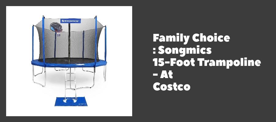 Family Choice : Songmics 15-Foot Trampoline - At Costco